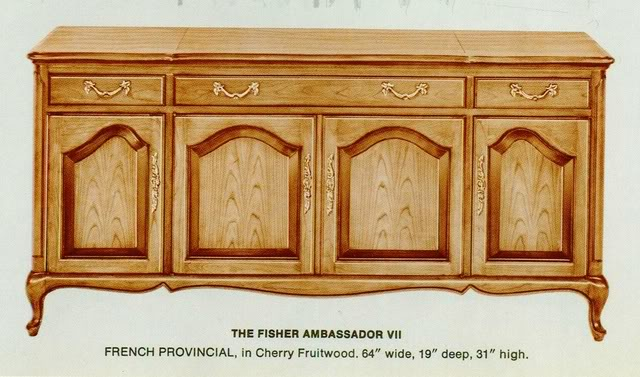 Fisher Ambassador French Provincial Console