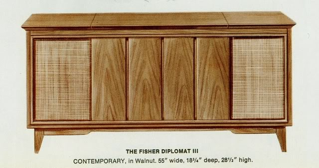 Fisher Diplomat III Contemporary Console