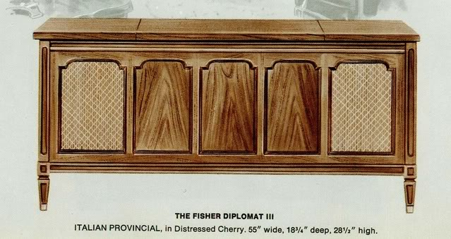 Fisher Diplomat III Italian Provincial Console