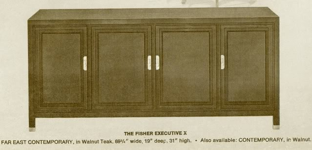 Fisher Executive X Contemporary Console