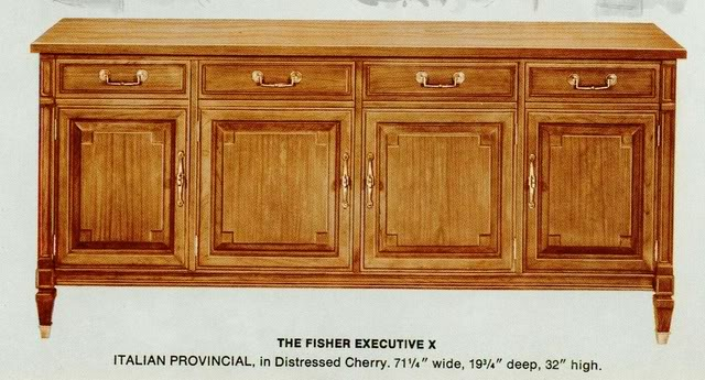 Fisher Executive X Italian Provincial Console