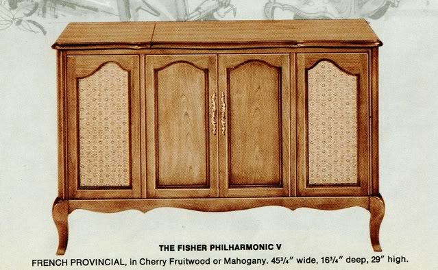 Fisher Philharmonic V French Provincial Console