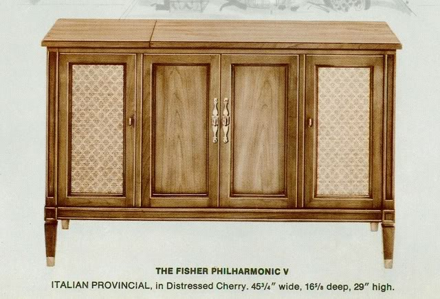 Fisher Philharmonic V Italian Provincial Console