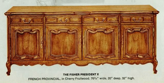 Fisher President X French Provincial Console