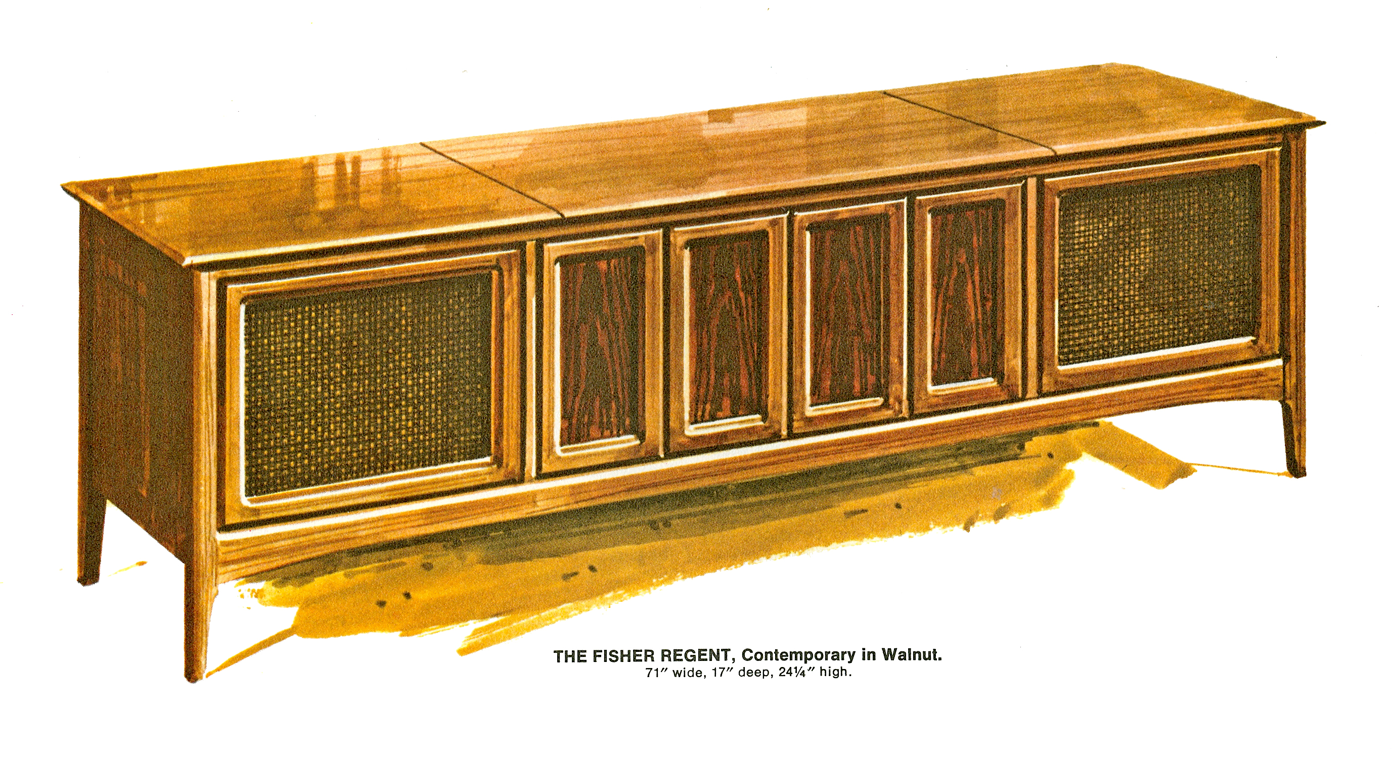 1967 Fisher Regent R-592-W Contemporary Console