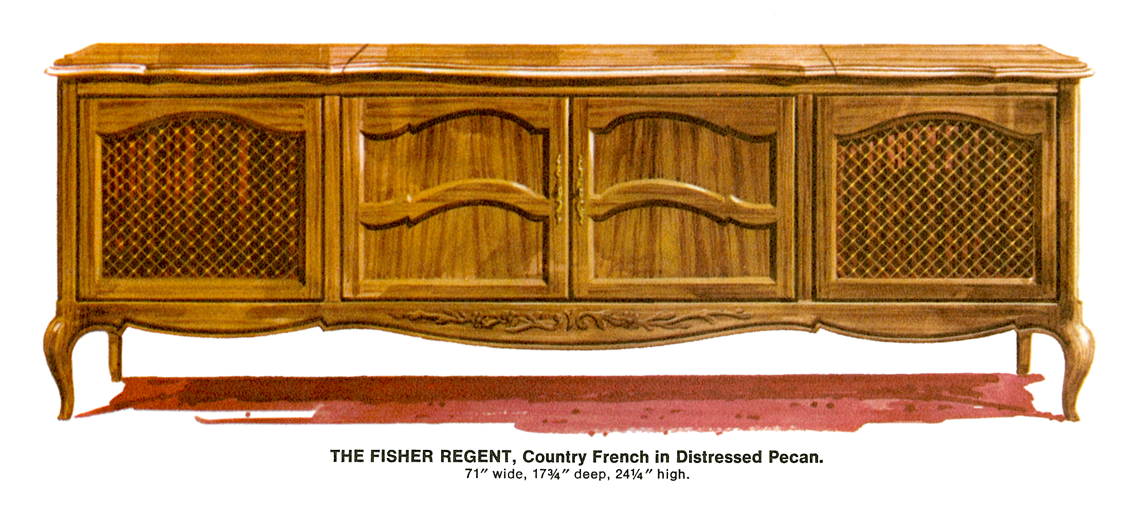 1967 Fisher Regent R-592-CF Country French Console