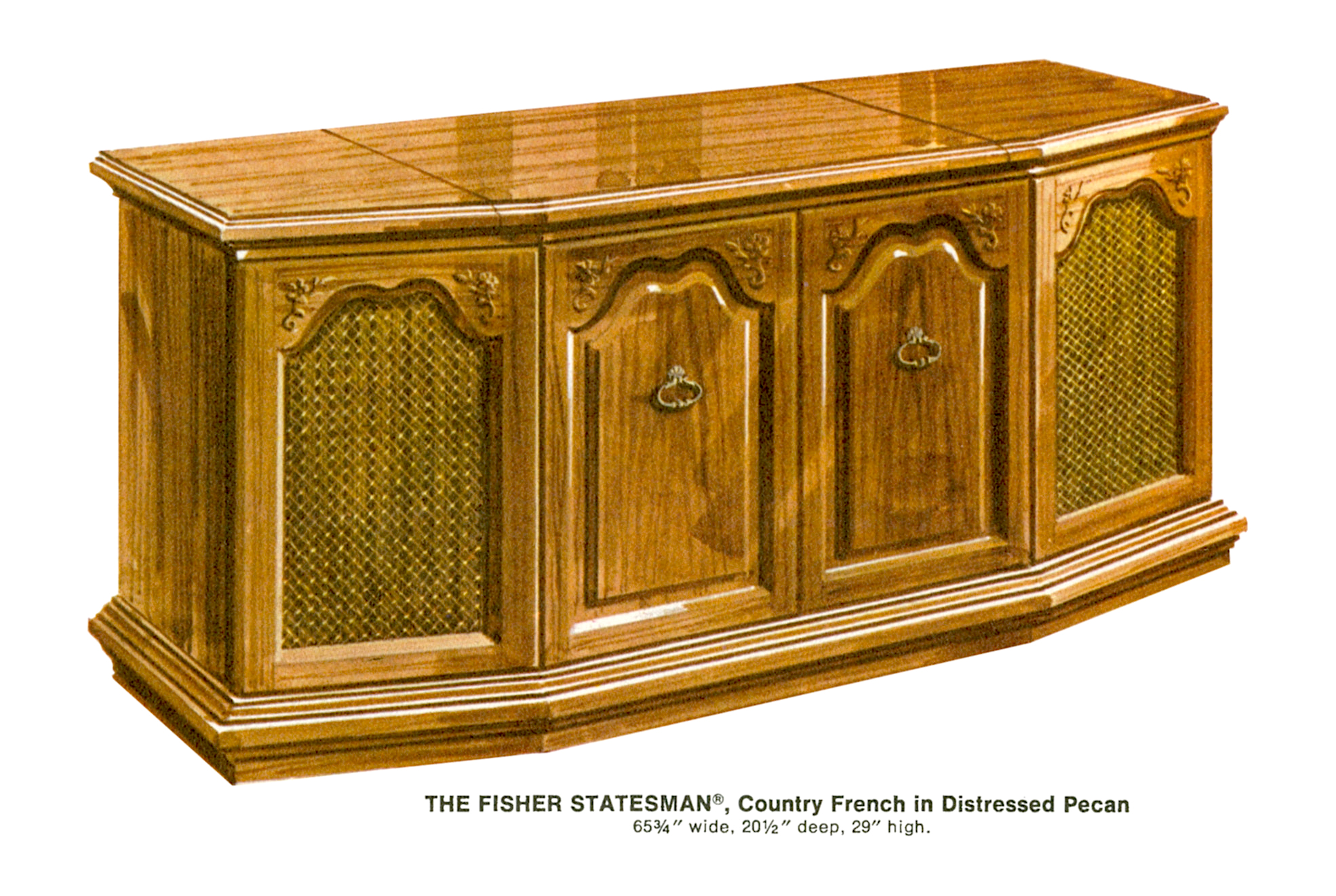 USA. VINTAGE (50,s-80,s) 1967%20Fisher%20S-692CF%20Statesman%20Country%20French%20Console