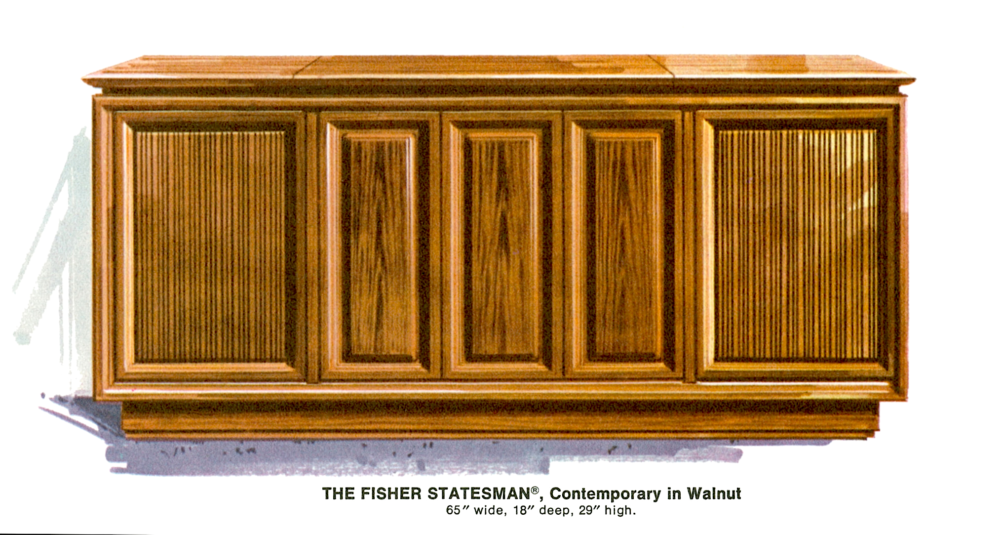USA. VINTAGE (50,s-80,s) 1967%20Fisher%20S-692W%20Statesman%20Contemporary%20Console