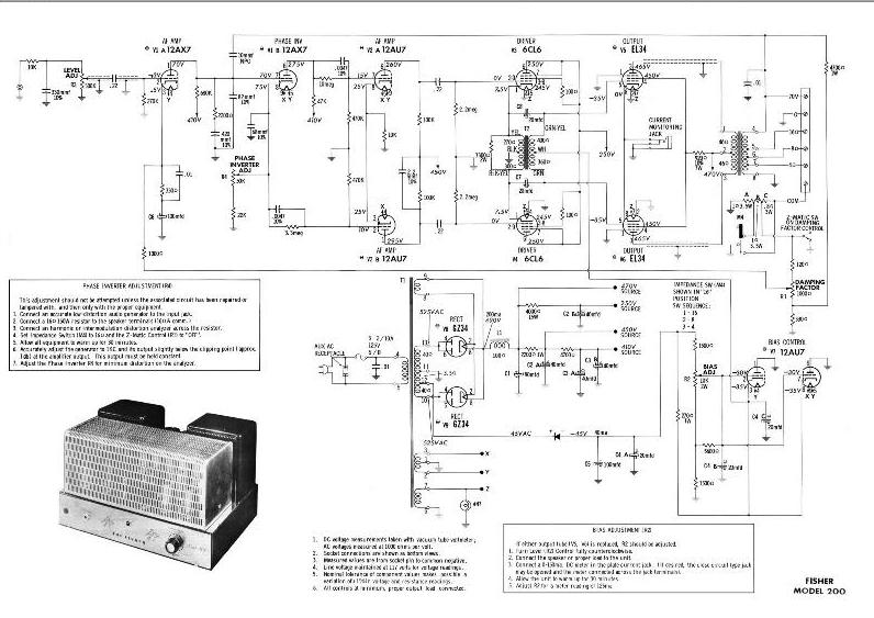 fisher console service manuals and owners manuals 200 amp schematic